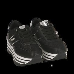 Sneakers platform nere, Scarpe, 157310037EPNERO035, 002a