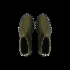 Sneakers verdi in lycra a calza con suola in gomma, Scarpe, 121740405LYVERD, 004 preview