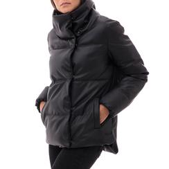 Piumino nero in nylon, Abbigliamento, 146501168NYNERO3XL, 001a