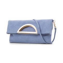 Pochette estensibile azzurra in microfibra , Borse, 135700150MFAZZUUNI, 004 preview