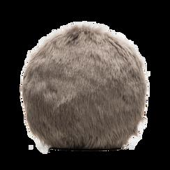 Tracollina grigia in eco-pelliccia, Saldi, 12B412001FUGRIGUNI, 002 preview