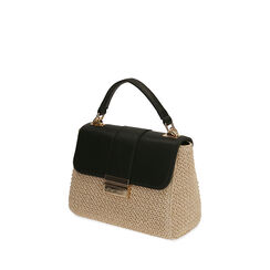 Mini sac en raphia noir, Primadonna, 172392476RFNEROUNI, 002a