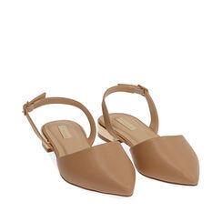 Slingback plana nude,  Zapatos, 174987412EPNUDE036, 002a