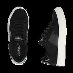 Sneakers nere in microfibra, Scarpe, 142619071MFNERO035, 003 preview
