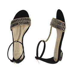 WOMEN SHOES FLAT MICROFIBER NERO, Zapatos, 152130898MFNERO036, 003 preview