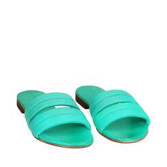 Zapatillas verdes de cuero, Primadonna, 177204903PEVERD035, 002a