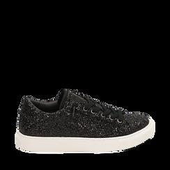 Sneakers noires glitter, Primadonna, 162600308GLNERO035, 001a