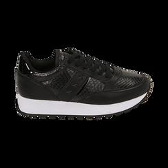 Sneakers nere stampa vipera, Primadonna, 162619079EVNERO037, 001 preview