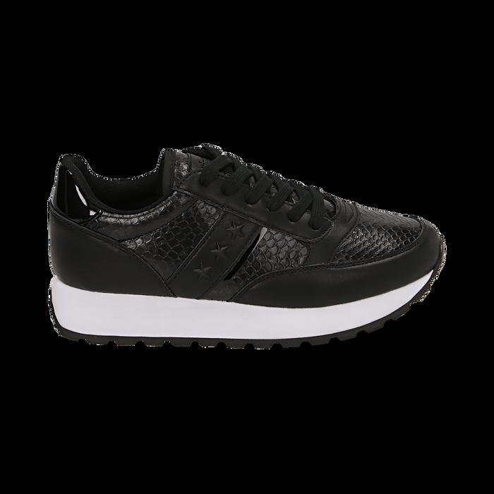 Sneakers nere stampa vipera, Primadonna, 162619079EVNERO037