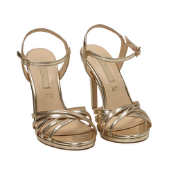 WOMEN SHOES SANDAL LAMINATED OROG, Chaussures, 152174020LMOROG035, 002a