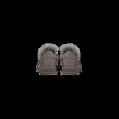 Sneakers grigie slip-on con dettagli faux-fur e borchie, Scarpe, 129300023MFGRIG, 003 preview