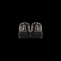 Sneakers canna di fucile  effetto mirror e suola nera, Scarpe, 129312321SPCANN, 003 preview