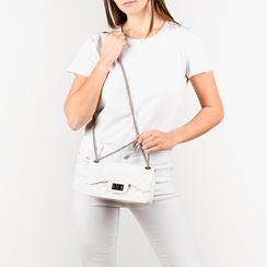 Mini-bag matelassé bianca in pvc, Borse, 15C809988PVBIANUNI, 002 preview