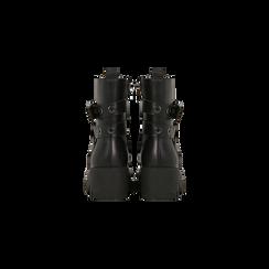 Anfibi neri con mini-oblò alla caviglia, Primadonna, 129328613EPNERO, 003 preview
