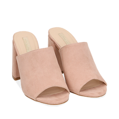 WOMEN SHOES SLIPPER MICROFIBER NUDE, Chaussures, 154998161MFNUDE036, 002a