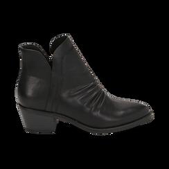 Bottines noires en simili-cuir, talon de 4,50 cm, Primadonna, 150693110EPNERO035, 001 preview