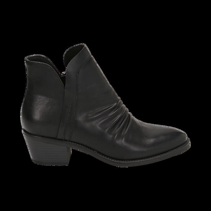 Bottines noires en simili-cuir, talon de 4,50 cm, Primadonna, 150693110EPNERO035