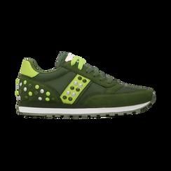 Sneakers verdi color block, Scarpe, 122618834MFVERD, 001 preview