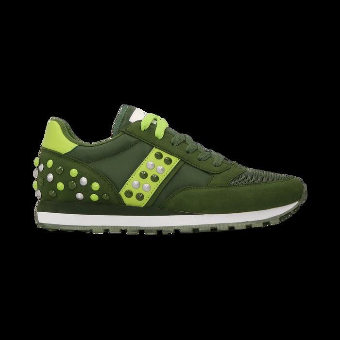 Sneakers verdi color block, Scarpe, 122618834MFVERD
