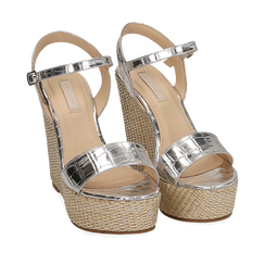WOMEN SHOES WEDGE EP-CROCO ARGE, Zapatos, 154983292CCARGE036, 002a