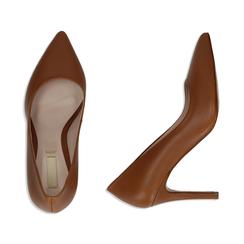 Décolleté cuero de piel, tacón 9 cm, Zapatos, 15D601001VICUOI036, 003 preview