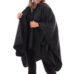 Poncho grigio in tessuto , Abbigliamento, 14B400006TSGRIGUNI, 001 preview
