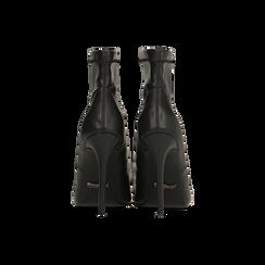 Décolleté nere con gambale, tacco 10,5 cm, Primadonna, 122186721EPNERO037, 003 preview