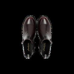 Chelsea Boots bordeaux, punta tonda, Scarpe, 120608573ABBORD, 004 preview