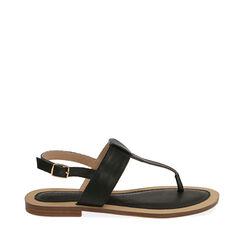 Sandalias de dedo negras, 174957188EPNERO037, 001a