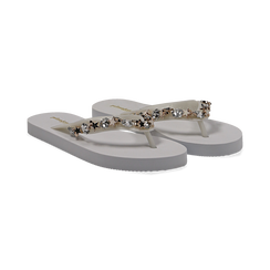 Zeppe infradito bianche in pvc, Primadonna, 13C119508PVBIAN035, 002 preview