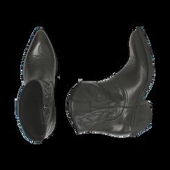 Camperos neri in pelle, tacco 4 cm, Primadonna, 157732901PENERO036, 003 preview