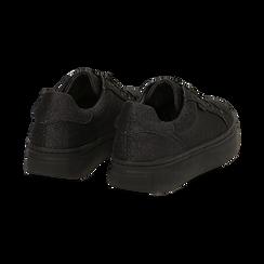 Sneakers nere glitter, suola 4 cm , Scarpe, 142509512GLNERO038, 004 preview