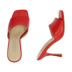 Mules rosse, tacco 9,5 cm , Primadonna, 174823921EPROSS035, 003 preview