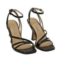 Sandali neri, tacco 9,5 cm , 172183653EPNERO040, 002a