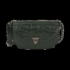 Borsa piccola verde in eco-pelle stampa cocco, Primadonna, 146600202CCVERDUNI, 001 preview