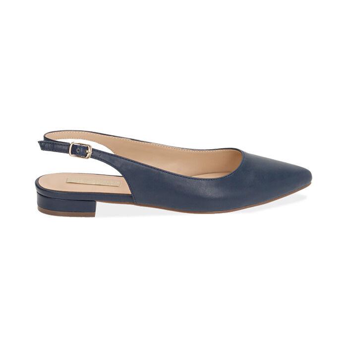 Slingback blu, Scarpe, 174992012EPBLUE036