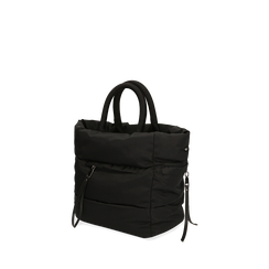 Sac duvet noir en tissu, Primadonna, 165123006TSNEROUNI, 002a