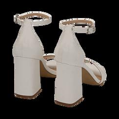 Sandali bianchi in tejus, Scarpe, 154821432EJBIAN039, 004 preview
