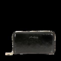 Portafogli nero in vernice, Borse, 142200896VENEROUNI, 001a