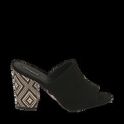 CALZATURA CIABATTE MICROFIBRA NERO, Zapatos, 154970855MFNERO035, 001a