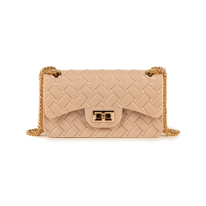 Mini-bag matelassé nude in pvc, Borse, 15C809988PVNUDEUNI