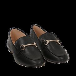 Mocassins noir simili cuir, Chaussures, 154939181EPNERO035, 002a