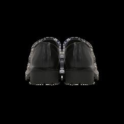 Stringate nere in eco-pelle, Scarpe, 140801201EPNERO036, 003 preview