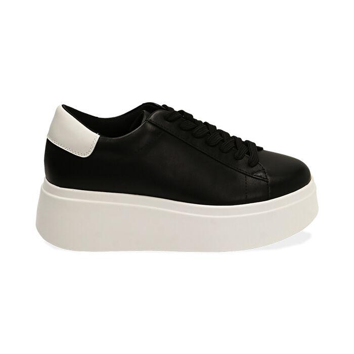 Sneakers nere, platform 6,5 cm, Primadonna, 177505101EPNERO036
