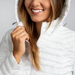 Piumino Bianco Donna Lungo con Cappuccio, Abbigliamento, 128500502TSBIAN, 005 preview