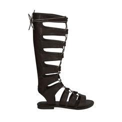 Sandalias de gladiador negras, Primadonna, 174952233EPNERO035, 001 preview