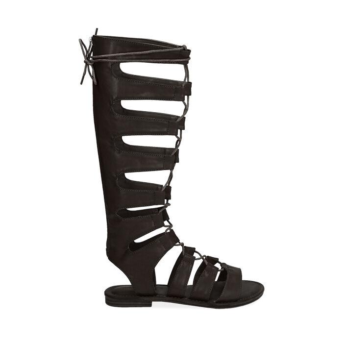 Sandalias de gladiador negras, Primadonna, 174952233EPNERO035