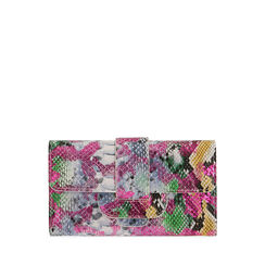 Portafogli multicolor stampa pitone , Primadonna, 175102538PTMULTUNI, 001a