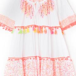 Caftano corto bianco/rosa, Primadonna, 130500246TSBIRAUNI, 002a