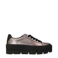 Sneakers canna di fucile con suola extra platform zigrinata, Primadonna, 122618776EPCANN035, 001a